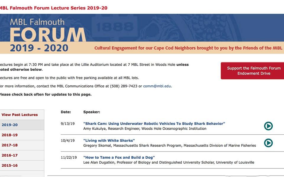 MBL Falmouth Forum