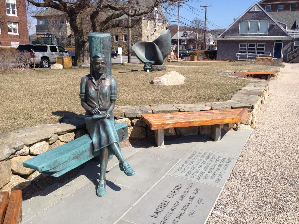 Rachael Carson statue Woods Hole